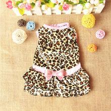 Newest China Wholesale Pet Supply Leopard Dog Dress