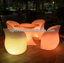 PE rechargeable remoted controled decorative led laptop table