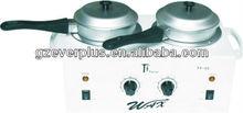 Hot!!! depilatory double wax pot heater&hair remover warm wax heater&portable paraffin wax heater