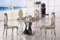 Moderno elegante rodada mesa de mármore com cadeiras