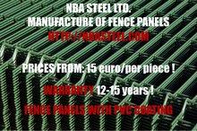Fence panels with PVC coating