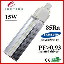 high PF high light effect g24 led 5050 smd inserted lights