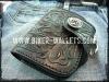 The Derringer Black Leather Biker Wallet