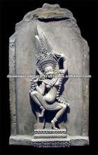 Statue en pierre indoue DSF-CP042 de Cham d'antiquité de danse de Shiva