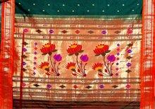 Pallu lotus paithani sarees