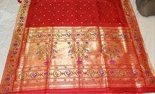 Parot lotus pallu paithani sarees