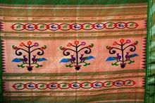 Peacock tree paithani sarees