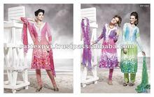Pink cotton silk new design salwar kameez for womens wear