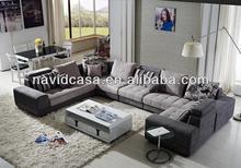 Novo design moderno sofá de madeira maciça quadros