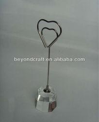 crystal name card holder,crystal place card holder