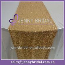 TR064#3 gold sequin wedding table runner