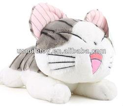 very lovely plush pappy cat,plush cat looks happy