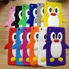 For Apple IPad Mini Cute Aminal Silicone Cases .Silicone Penguin Cases For IPad Mini