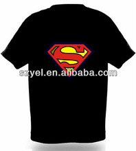 Superman design music sound sensor led tshirt for halloween