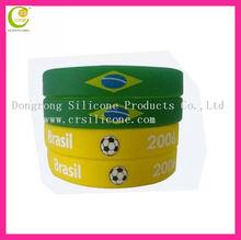 Team silicone bracelet/Promotional gift silicone bracelet/ world cup bracelet