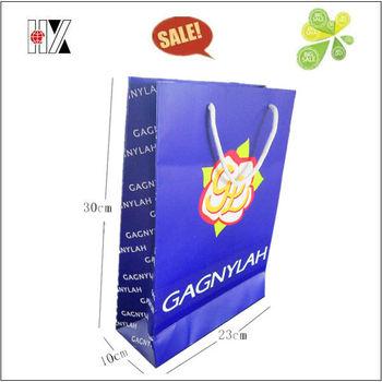 Customized Matt Laminative Luxury Paper Printed Shopping Bags