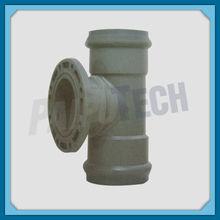 Plastic Pipe Fitting UPVC/PVC-U/PVC Double Socket and One Flange Tee