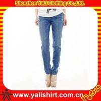 Wholesale high quality comfort mix size cotton denim washing fashion women jeans pent style