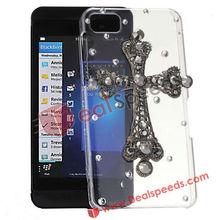 For BlackBerry Cell Phone Case! #BBZ10-6003A#Cross Diamond Cell Phone Case for BlackBerry BBZ10