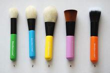 portable makeup brush travel case 5 pieces colorful handle