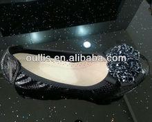 latest flat shoes for women 2013 women shoes guangzhou CH6001