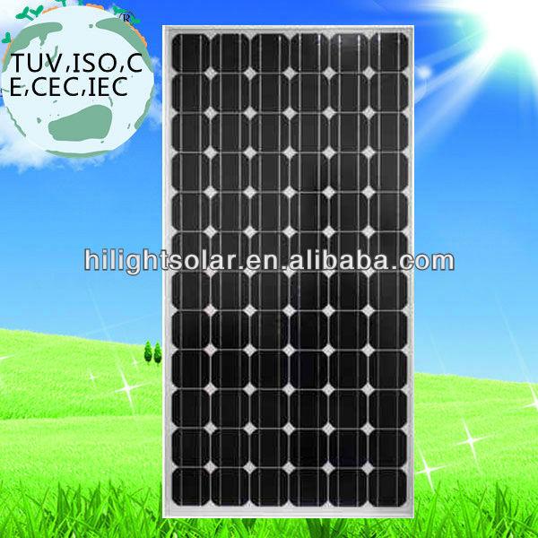 High efficiency solar panel photovoltaic with CEC,TUV,IEC,CE,INMETRO