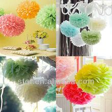 Wholesale bulk decoration paper party 10 inch tissue paper pom pom