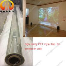 5 meters width high transparent rear PET projection film