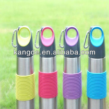 FDA LFGB collapsible colored bottle New silicone water bottle/roll up soft bottle/travel drinking bottle