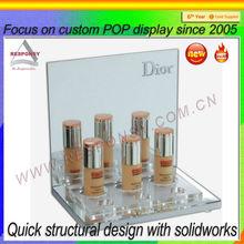 Acrylic stepped bottle display Acrylic Cosmetic Bottle Display
