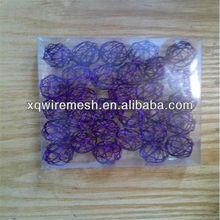 Colored wire made decorative wire ball
