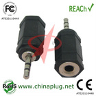 Audio adapter male female electrical plugs