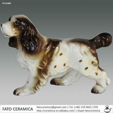FC13495 decorative antique ceramic dogs