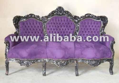 Canap baroque argent meubles neo rococo moderne - Meuble baroque moderne ...