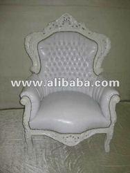White Wedding Fauteuil Baroque Neo Rococo style