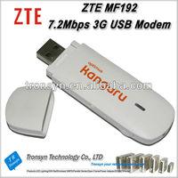 Original Unlock HSDPA 7.2Mbps ZTE MF192 3G USB Modem And 3G USB DataCard