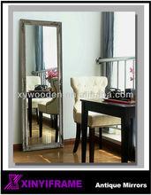 Decency fancy framed full length free standing mirror