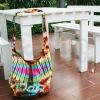 Rainbow Tie Dye Cotton Wide Strap Sling bag for men