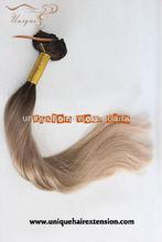 5A pure unprocessed virgin remy brazilian extensions non clip in hair