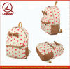 Lovely Cute Bowknot Decoration and Polka-dot Print Designer Canvas Backpack Bag for High School Girls 2013