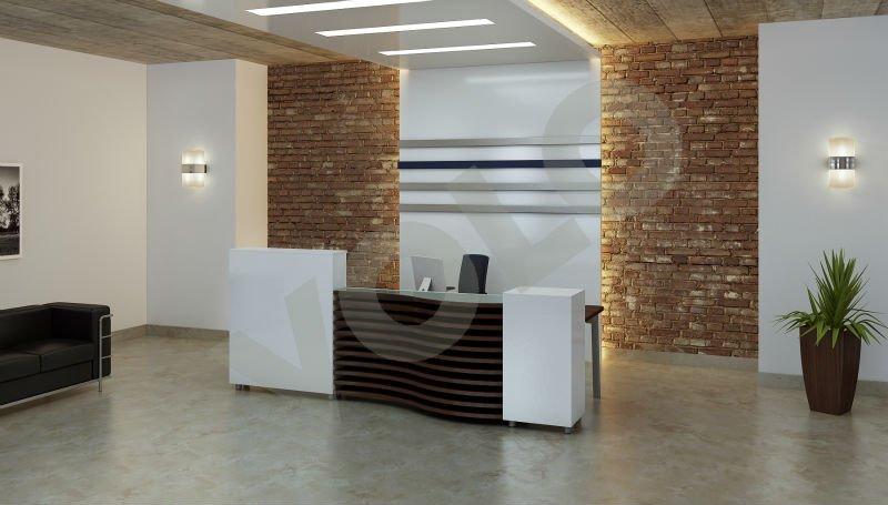 Moderne comptoir bureau ( ICARUS )Table en boisId du