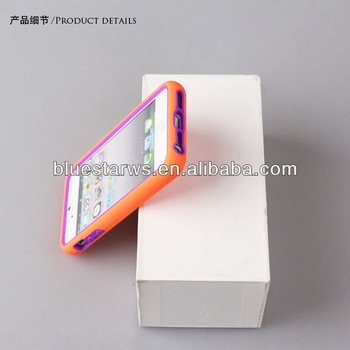 PC + Silicon custom cell phone shell For iphone 5