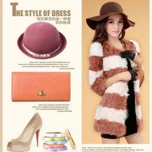 2013 Factory direct sale top fashion design Women Lamb Fur Coat