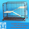Foldable iron small pet cage of stainless steel cat cage
