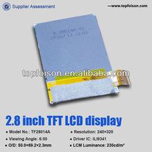Best quality 2.8'' TFT displayTF28018A