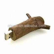 wooden 1/2/4/8/16/32gb tree branch usb 2.0 flash drive