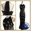 2013 Black Mature Design Beaded Sexy Cheap Celebrity dresses Zuhair Murad Black evening dress 2013
