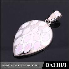 Women Jewelry 316L Stainless Steel White Enamel Pendants