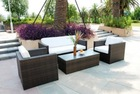 Outdoor Sofa Set, rattan Wicker Garden Furniture