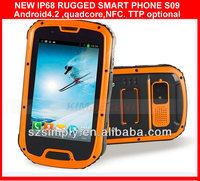 "IP68 android 4.2 4.3"" china telefonos moviles china GPS PTT. NFC optional"